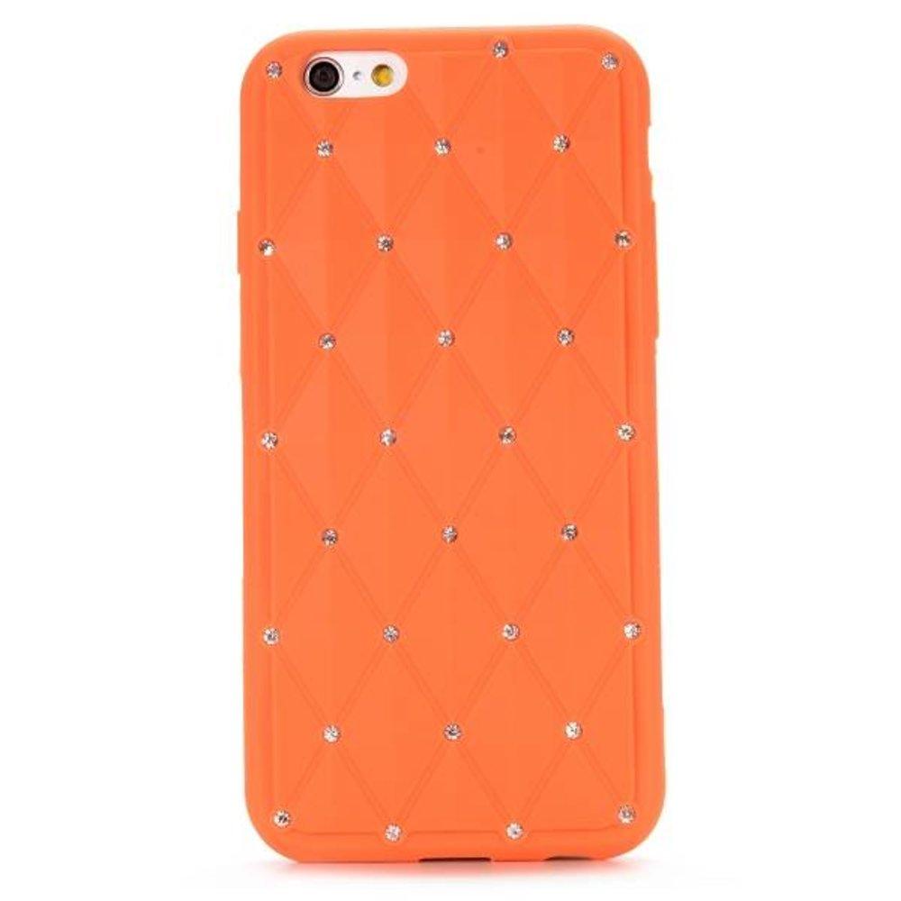 Stars oranje iPhone 6 Siliconen hoes