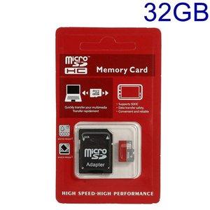 TransFlash (TF) MicroSD SDHC kaartje met SD adapter in 8GB, 16GB of 32GB
