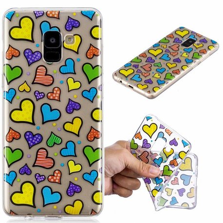 Samsung Galaxy S9 TPU hoes Lieve hartjes motief