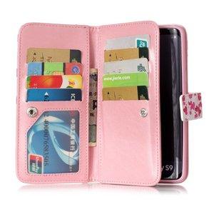 9 vaks Pink ribbon luipaard skin S9 Portemonnee hoesje