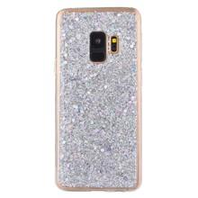Zilver glitter (sequin). samsung galaxy S9 flex hoesje