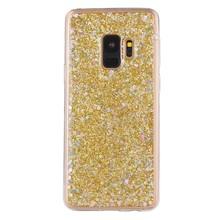 Goude glitter (sequin). samsung galaxy S9 flex hoesje