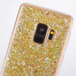 Gouden glitter (sequin). samsung galaxy S9 flex hoesje