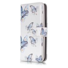 9 vaks blauwe vlinders S9 Portemonnee hoesje