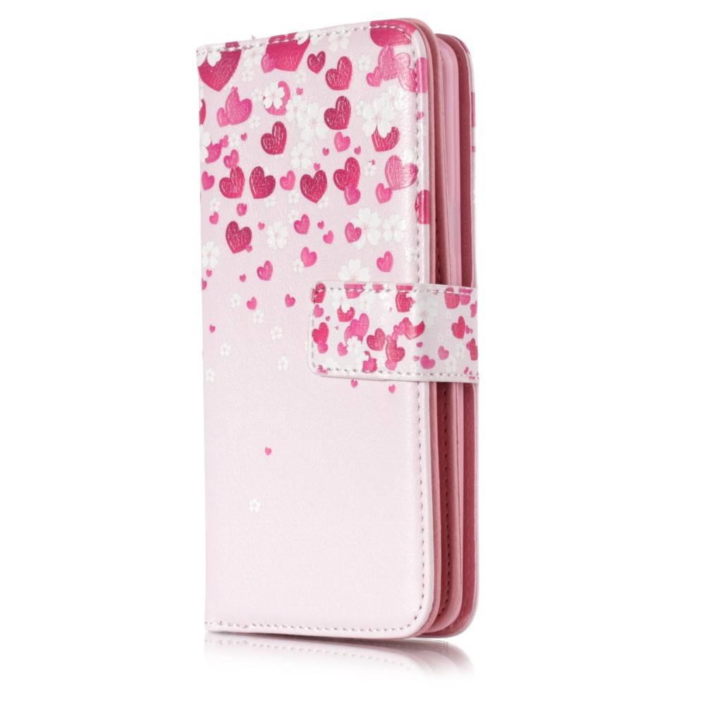 Afbeelding van 9 vaks kleine hartjes S9 Portemonnee hoesje