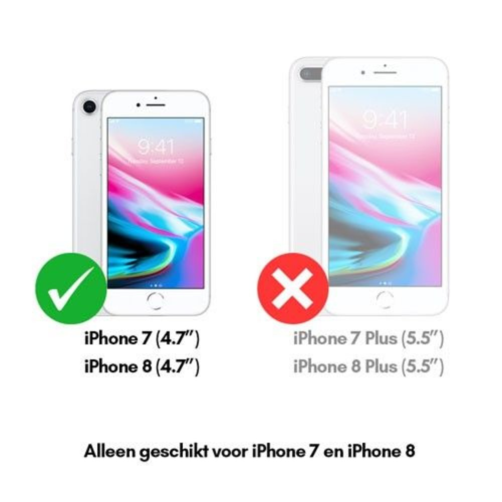 Set van 2 Tempered glass screenprotectors gehard glas iPhone 7 en iPhone 8