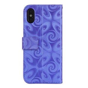 iPhone XS-MAX portemonnee hoesje  voorzien van met fijn zand gevuld wijnglas in diverse kleuren verkrijgbaar