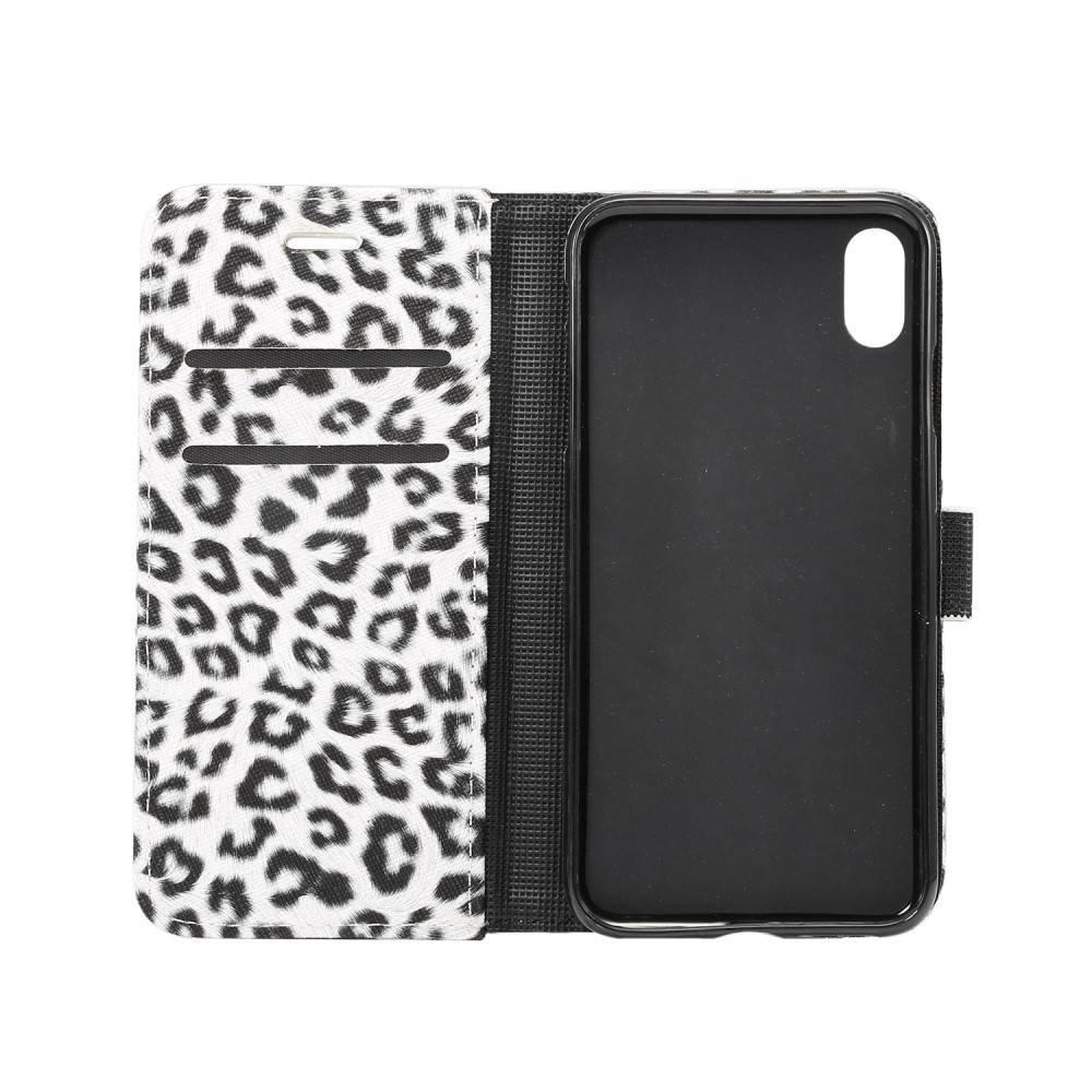 iPhone XS MAX witte Luipaard hoesje