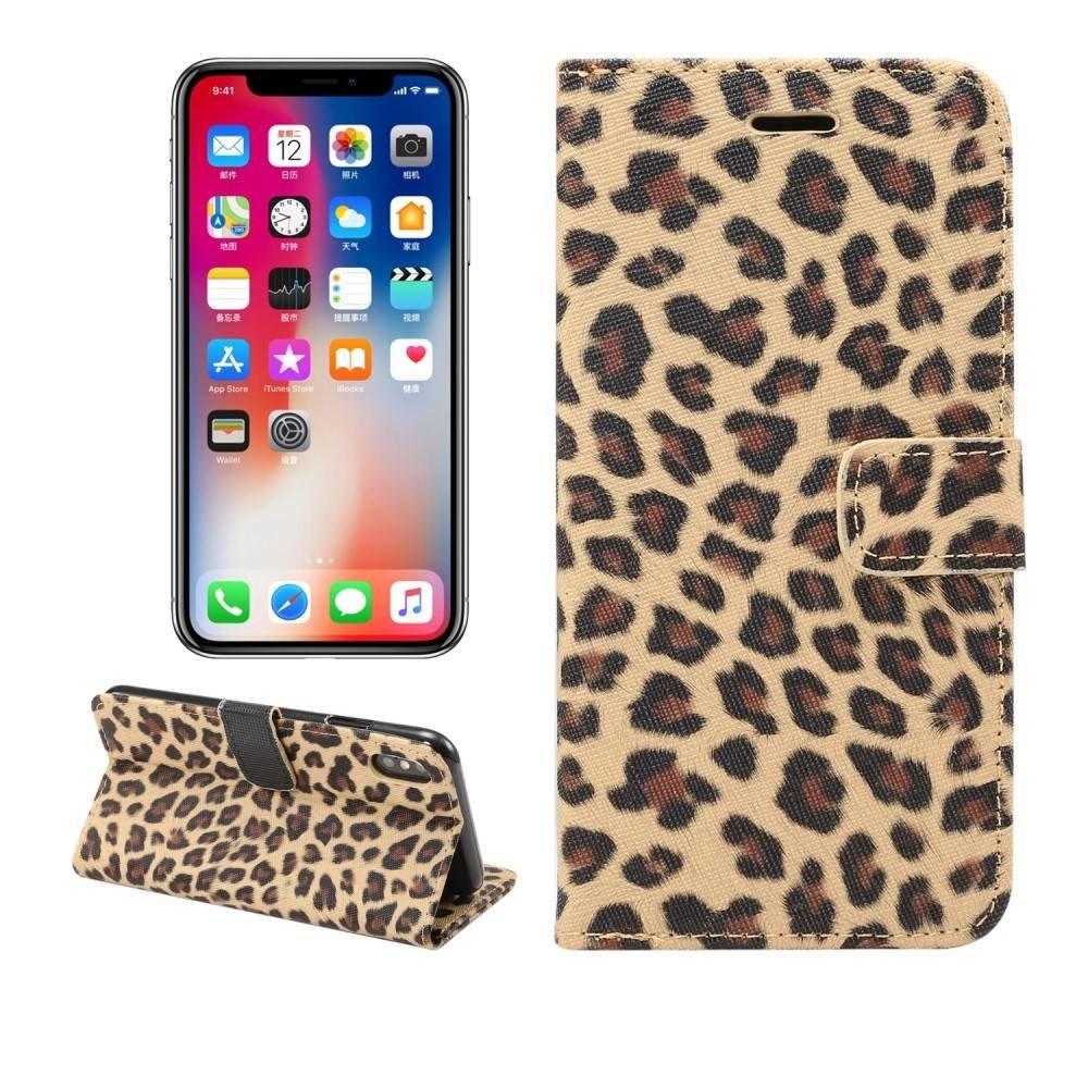iPhone XS MAX bruin Luipaard hoesje