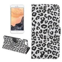 Portemonnee hoesje Luipaard wit iPhone 7 PLUS en iPhone 8 PLUS