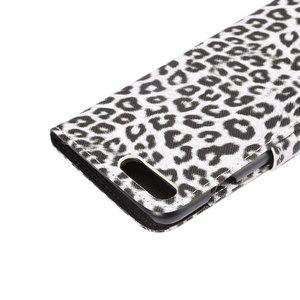 Portemonnee hoesje met Luipaard print wit iPhone 7  PLUS en de iPhone 8 PLUS