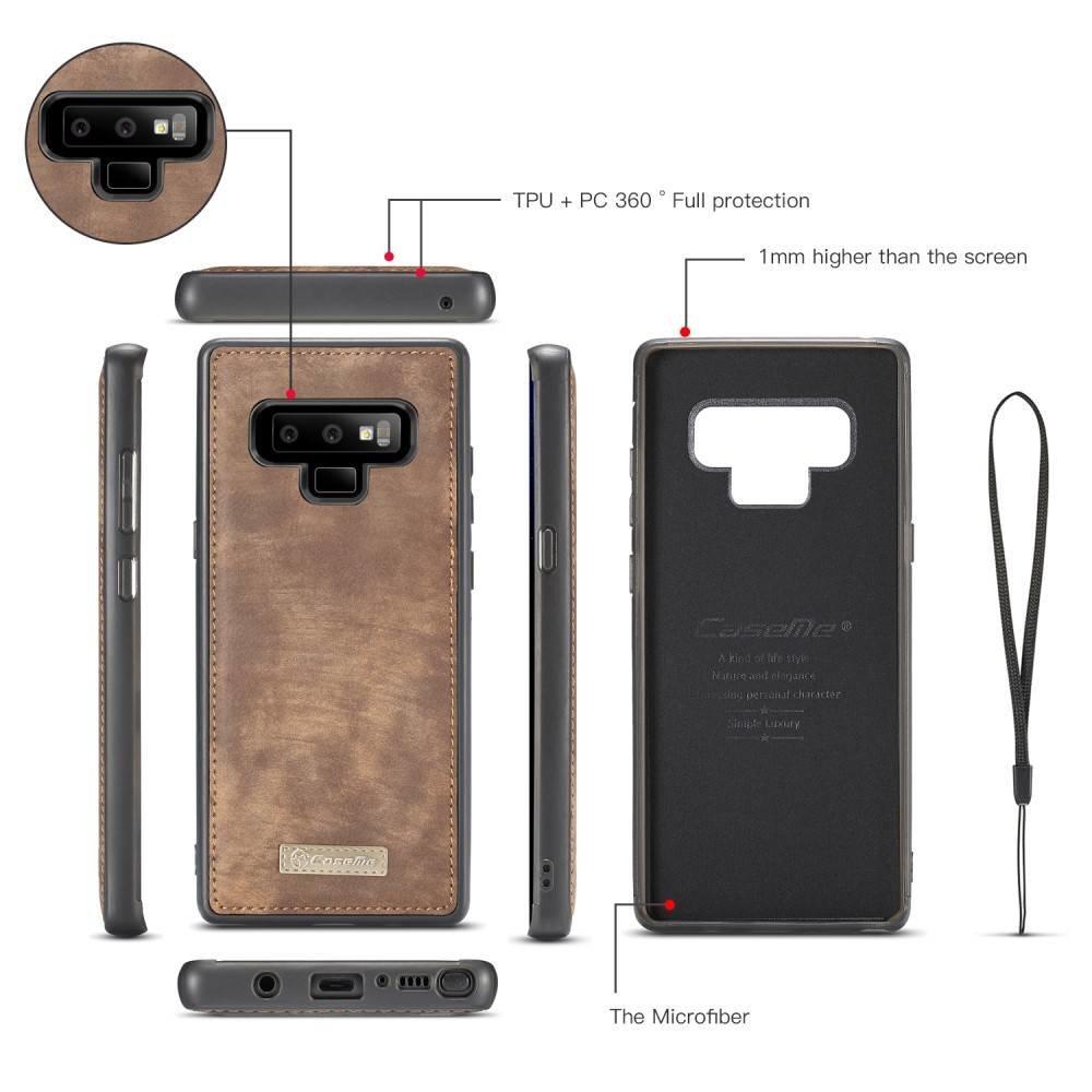 CaseMe Bruine multifunctioneel wallet hoesje Samsung Galaxy Note 9