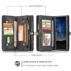 CaseMe Zwarte multifunctioneel wallet hoesje Samsung Galaxy Note 9