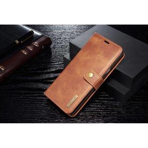 DG.Ming Bruin pu leren Note 9 portemonnee hoesje met los te maken case
