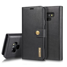 DG.Ming Zwarte pu leren Note 9 portemonnee hoesje met los te maken case