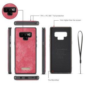 CaseMe Rode multifunctioneel wallet hoesje Samsung Galaxy Note 9
