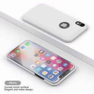 Gegalvaniseerd doorschijnend iPhone XR hoes zilverkleurig