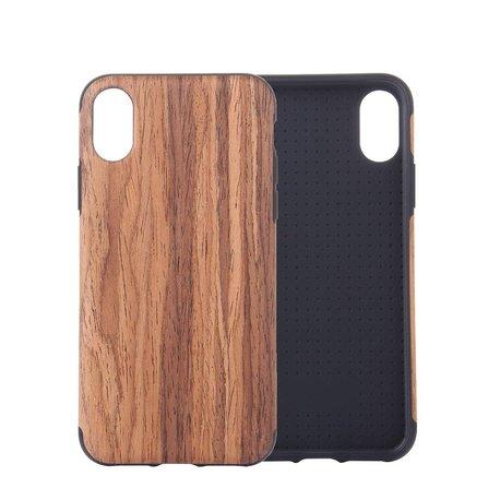 Hout patroon flexibel plastic iPhone XS MAX div kleuren