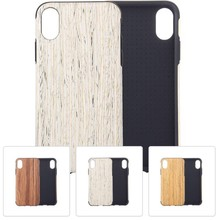 Hout patroon flexibel plastic iPhone XS MAX div kleuren