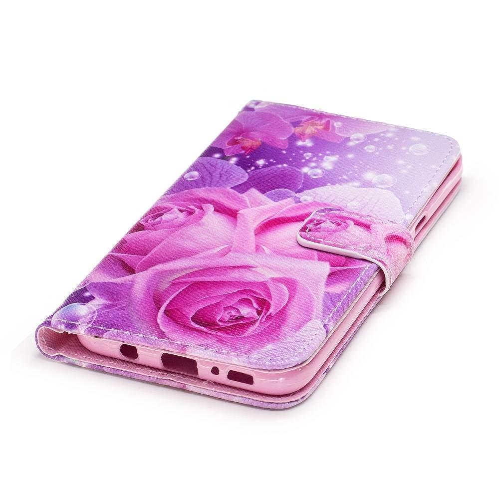 Samsung Galaxy S8 PLUS portemonnee hoesje Roze/paarse rozen