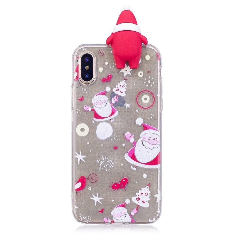 Iphone X, XS kerst hoesje met kerstmannetje