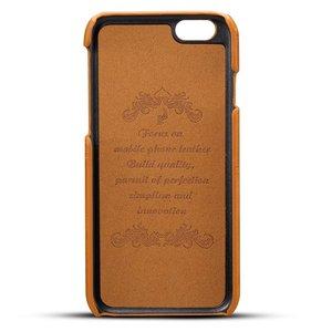 Suteni Bruine harde met pu leer bekleed iPhone 6 PLUS hoesje met ruimte voor 2 pasjes