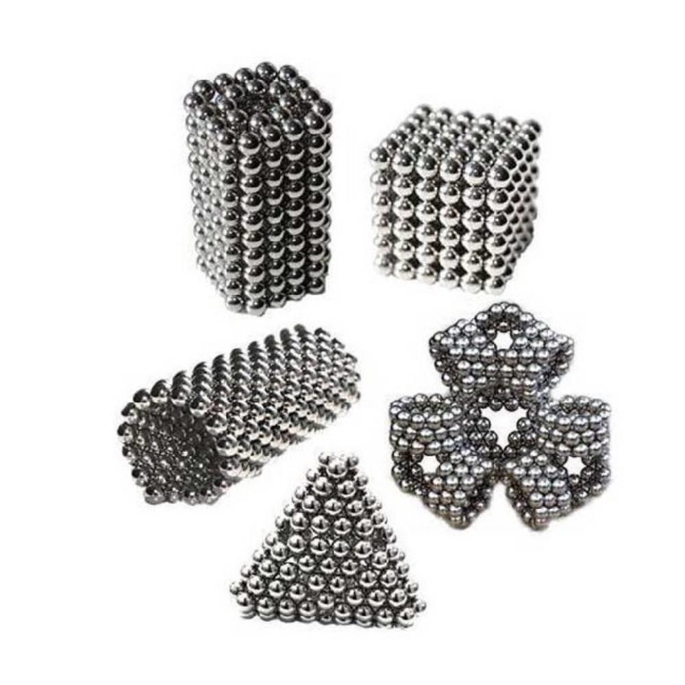 3mm 216 st Zilverkleurig  Magnetische Balletjes BuckyBalls  Neodymium Neo Cube