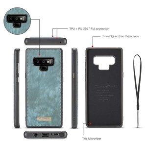 CaseMe Blauwe multifunctioneel wallet hoesje Samsung Galaxy Note 9