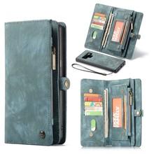 CaseMe Blauwe multifunctioneel wallet hoesje Samsung Note 9