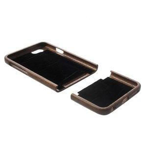 Houten iPhone 6 case koffiebruin