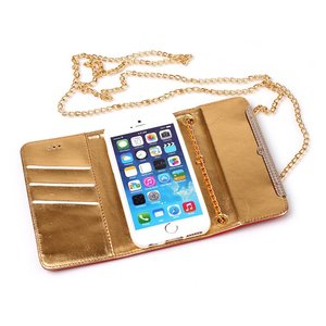 Handtas style iPhone 6 Goud PU lederen hoes