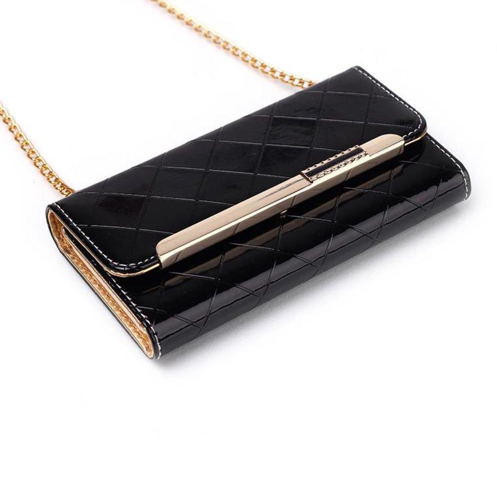 Handtas style iPhone 6 Zwart PU lederen hoes