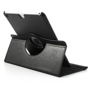 iPad Air 2 hoes 360 graden roteerbare hoes PU Leder Zwart