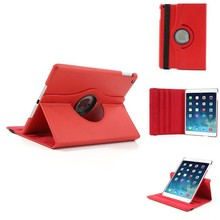 iPad Air 2 hoes 360 graden roteerbare hoes PU Leder Rood