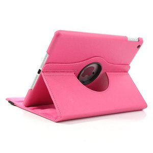 iPad Air 2 hoes 360 graden roteerbare hoes PU Leder Roze