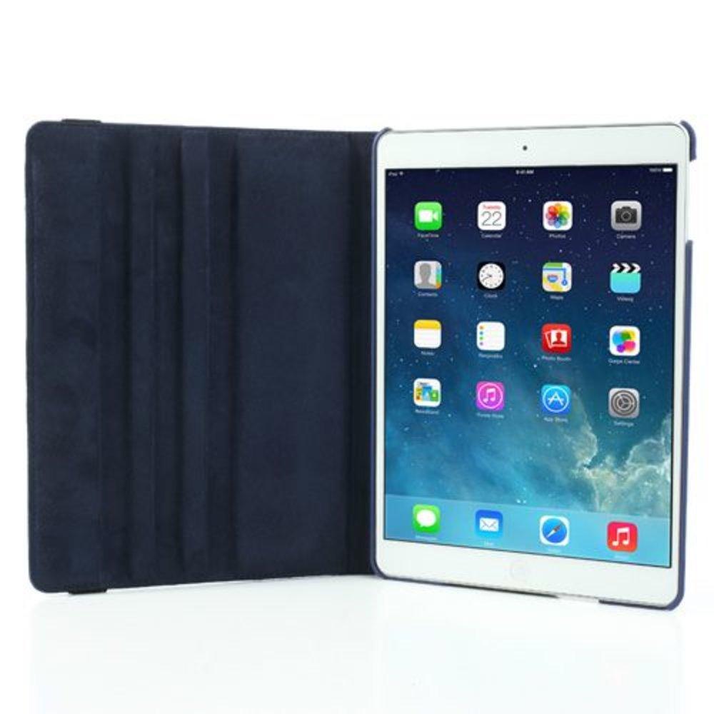 iPad Air 2 hoes 360 graden roteerbare hoes PU Leder Blauw