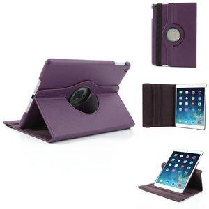 iPad Air 2 hoes 360 graden roteerbare hoes PU Leder Paars