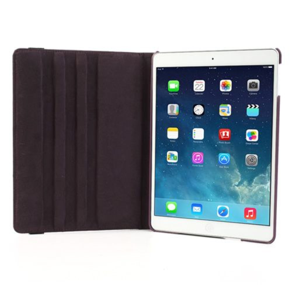 iPad Air 2 hoes 360 graden roteerbare hoes PU Leder Paars