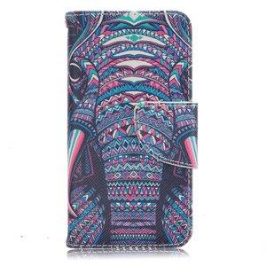 Tribal olifant iPhone SE, 5 en 5S portemonnee hoesje