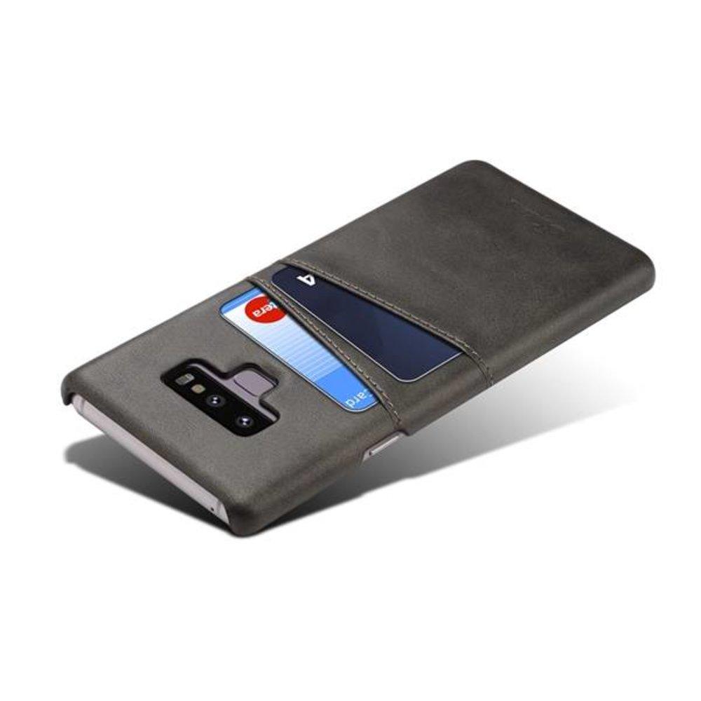 Suteni Harde met pu leer bekleed Galaxy Note 9  hoesje met ruimte voor 2 pasjes in div kleuren