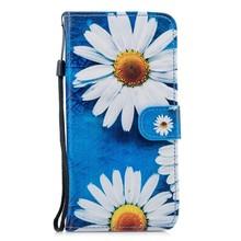 Hemels blauw met chrysanten Galaxy S9 PLUS  portemonnee hoes