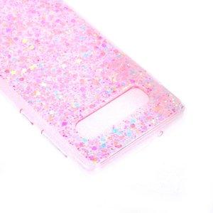 Roze glitter flexibel Galaxy S10 hoesje