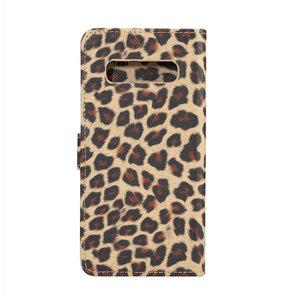 Luipaard bruin Samsung Galaxy S10 Portemonnee hoesje