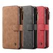 CaseMe 14 vaks 2 in 1 wallet Bruin hoesje Samsung S10  echt Split leer
