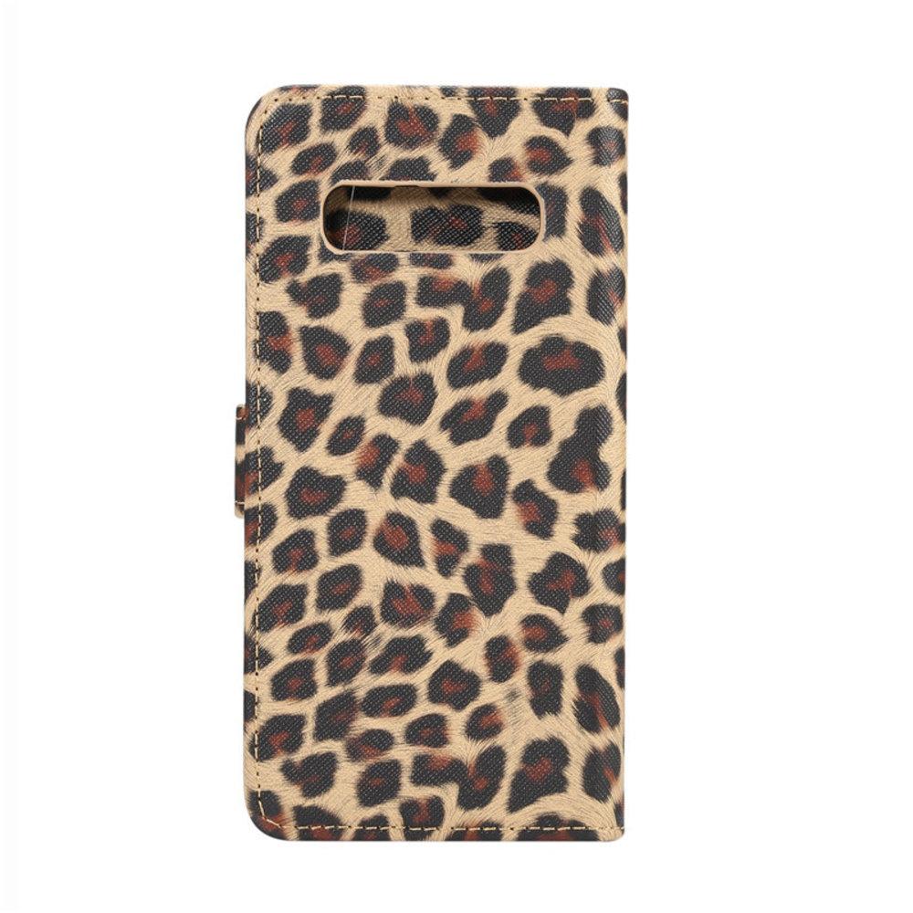 Luipaard bruin Samsung Galaxy S10e Portemonnee hoesje