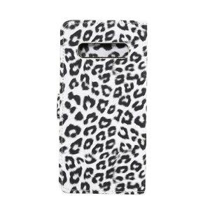 Luipaard Wit Samsung Galaxy S10e Portemonnee hoesje