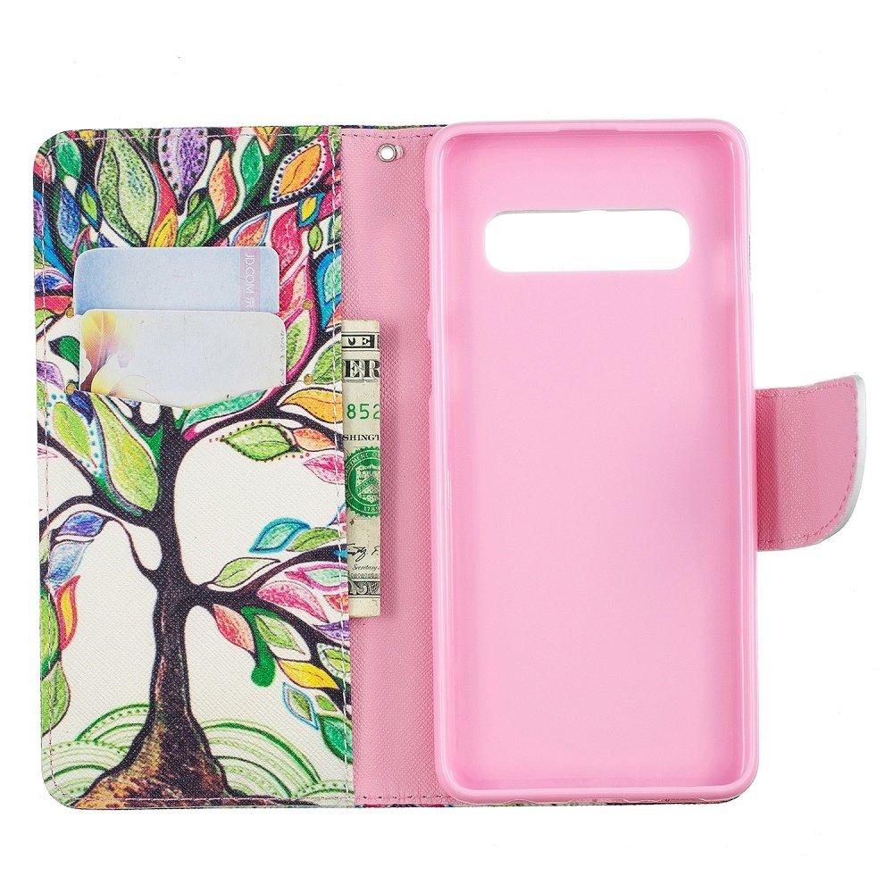 Kleurrijke boom Samsung S10e portemonnee hoesje
