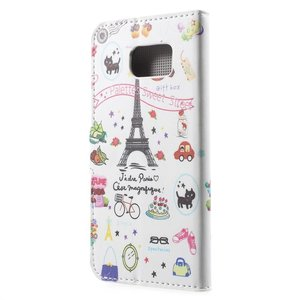 Eiffel toren Samsung Galaxy S6 portemonnee hoesje