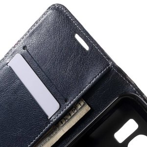Samsung Galaxy S6 portemonnee hoes blauw geruit