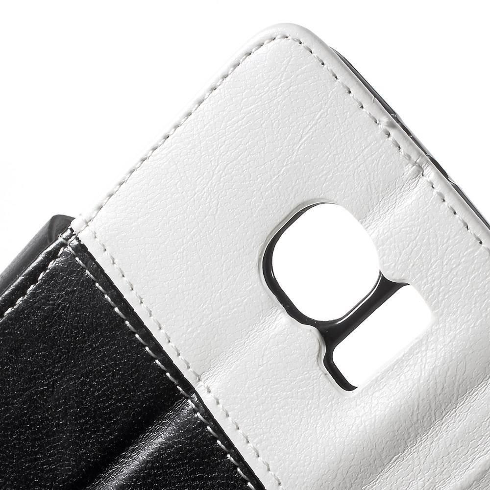 Smiley Samsung Galaxy S6 portemonnee hoes zwart/wit